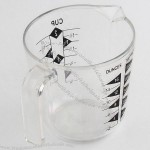 500ml Thick Transparent Measuring Cup
