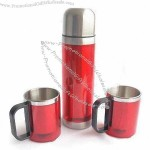500mL Vacuum Flask with 2 Coffee Mugs and Food Grade Standard