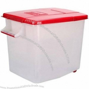 50KG Plastic Rice Storage Container With Handle Made in China