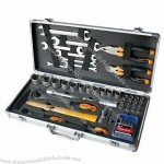 53-piece Tool Kit for Car Repairing/Home Remodeling and Construction, in Aluminum Case
