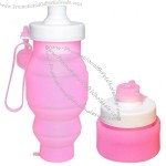 530ml Silicone Folding Compress Water Bottle