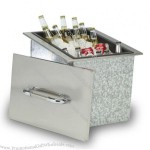 54L Drop In Ice Chilly Cooler Box Metal Ice Cube Box with Handle