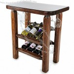 "6 Bottle 30"" Wine Table-Modern Square-Angled Display"