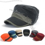 6 Color Mens Vintage Washed Cotton Cadet Military Hat Ball Cap Visor