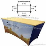 6' Dye Sublimated Contoured Table Banner