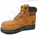 6-inch High Yellow Nubuck Leather Safety Shoes