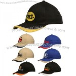 6-panel Brushed Cotton Constructed Caps in Many Colors