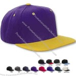 6-panel structured high profile flat visor cap.
