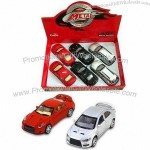 6-piece/Box Die-cast Metal Cars with Music and Light