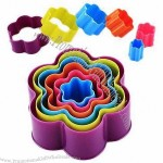 6-piece Flower Cutter Set, Colorful for Each Size