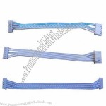 6-pin 2.00mm Pitch White and Blue Flat Cables for Set Top Box