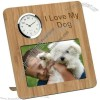 "6"" x 4"" Bamboo Photo Frame and Clock"