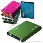 6000mAh USB Rechargeable Battery Pack with Dual USB Ports and LED Flashlight