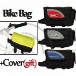 600D Bike Cycling Bicycle Front Tube Pouch Pannier Frame Bag with Rain Cover