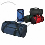 600D Poly duffle Roll Bag Zippered main compartment poly-web handle shoulder strap