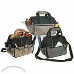 600D Poly Tool Bag 10 surround open pocket different tool storage pad carry handle