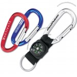 6cm Mini Carabiner With Compass