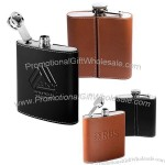 6oz. Tuscany Flask with Leather Sleeve