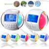 7 Color Light with LCD Clock Radio and 6 Nature Sounds Alarm