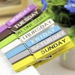 7 Days of the Week Wood Clothespins