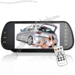 7 Inch Bluetooth Rearview Mirror Monitor and Multimedia Player (MP4, Bluetooth, Remote)