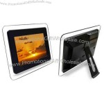 7 Inch Digital picture frame with 480 x 234 resolution.