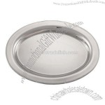 "7"" Stainless Oval Serving Tray"