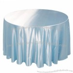 70/90/108 in. Round Satin Tablecloth
