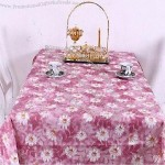 70% PVC, Duck and Flax Table Cloth