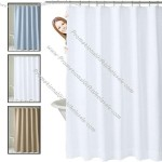 """70"""" x 72"""" Polyester Shower Curtain - Lustrous Waffle Design"""