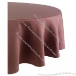70in Round Brown Tablecloth