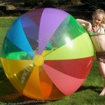 "72"" 12 Color 12 Panel Rainbow Beach Ball"