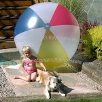 "72"" 4 Color Transclucent Beach Ball"