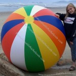"72"" 6 Color 12 Panel Embossed Vinyl Beach Ball"