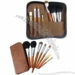 7pcs Personalized Makeup Brush Set with Brown Pouch