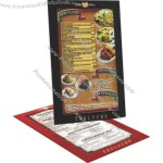 "8 1/2"" x 11"" Rigid frame style menu board with 1"" viewing area on front and back"