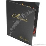 "8 1/2"" x 14"" - Menu/wine list with triple panel booklet with 4 views"
