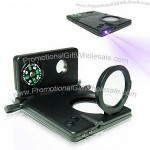 8-in-1 LED Card Magnifier with 3x Magnifier and Telescope Functions