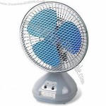 8 inch Car Fan with 3-piece LED Light, Two Speed Settings
