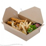 "8"" x 6"" x 3"" ChampPak Retro Kraft Paper Take-Out Container"