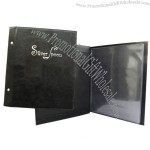 8.5X11 inches Black Menu Cover