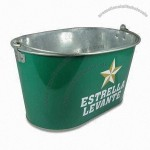 8L Galvanized Ice Bucket with Handle