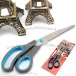 9-Inch Stainless Steel Tailor Scissors with Rubber Handle