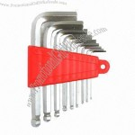 9-piece Ball Point Long hex key Wrench Set