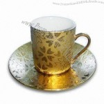 90CC Ceramic Cup and Saucer Set