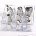 9pcs Large Pastry Tips
