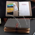 A5 Business Leather Ringbinder Notebook