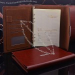A5 Luxury Leather Business Folded Loose-leaf Notebook