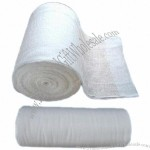Absorbent Gauze Roll, 100% Bleached Cotton Fabric