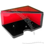 Acrylic Card Holder 4 Decks Red